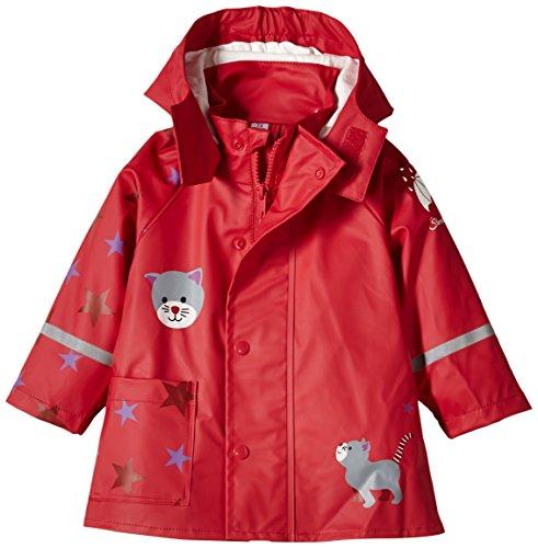Sterntaler Baby-Mädchen Strickmütze Regenmantel, Rot (Rubin 804), 116