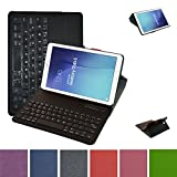 Clavier Bluetooth Coque Pour Samsung Galaxy Tab E 9.6,Mama Mouth Détachable Clavier Bluetooth PU...