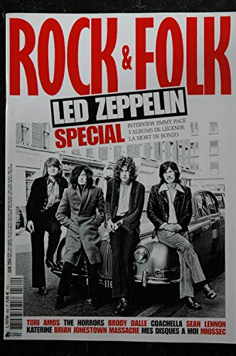 ROCK & FOLK 562 juin 2014 COVER LED ZEPPELIN Tori Amos The Horrors Brody Dalle Coachella Sean Lennon