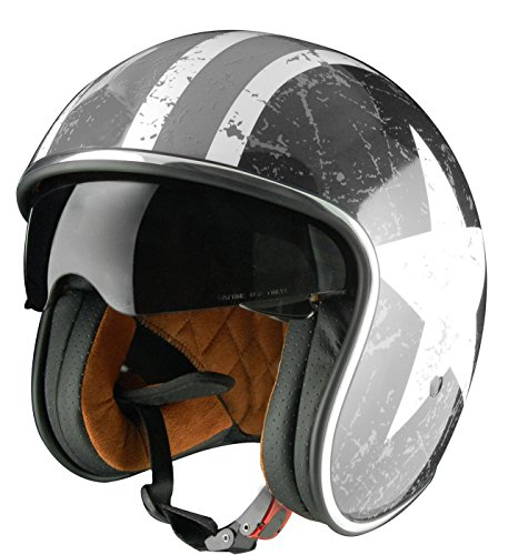 Origine Helmets Sprint Rebel Star Grey - Casco Abierta, Blanco/Gris, L (59-60 cm)