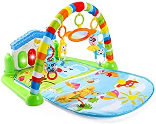 Intelligent Piano Gym Play Mat Infant Play Gym Activity Music Mat Multifunctional Kicking, Playing Piano Gym Piano Body-building Gym