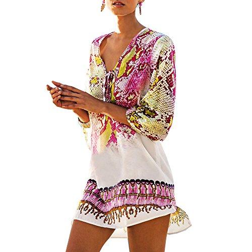 Sanxin Seksowny kostium kąpielowy dla kobiet, czeskie okrycie kwiatowe aż do stroju plażowego