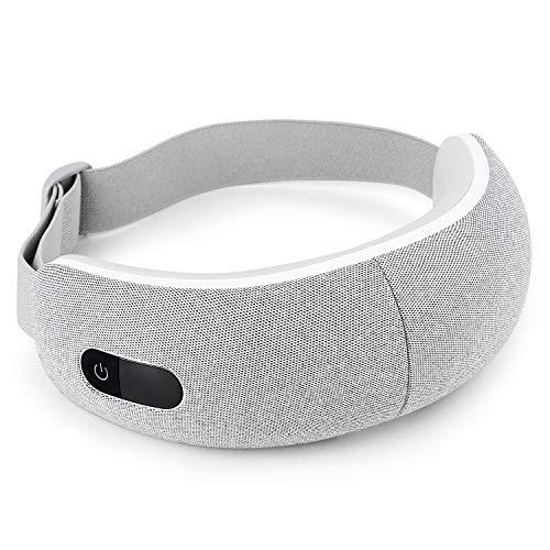 Masajeador Contorno Ojos Electrico, Massager Ocular Electrónico Plegable Recargable con Presión de Aire, Compresión del Calor, Bluetooth Música