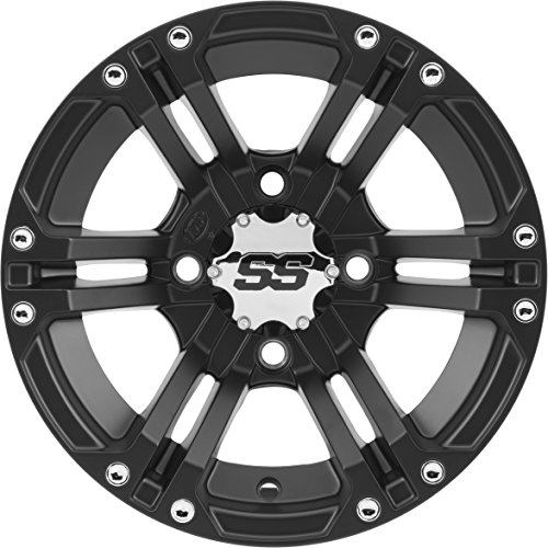 ITP SS ALLOY SS212 Matte Black Wheel with Machined Finish (14x6'/4x110mm)