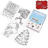 36 Mini-Weihnachten Malbücher für Kinder - Ideal für Weihnachtsstrumpf Füller & Partytaschenfüller, Mitgebsel & Preise