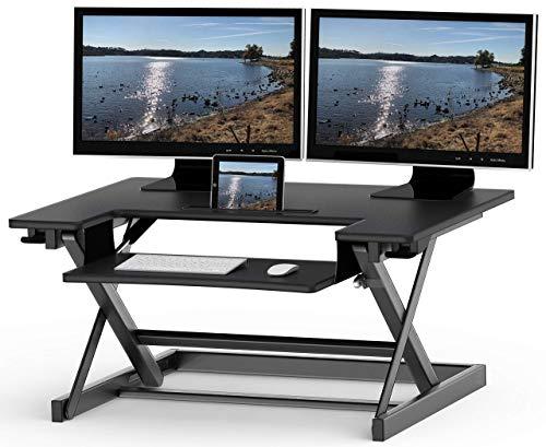 SHW Table debout réglable en hauteur 81,3 x 55,9 cm