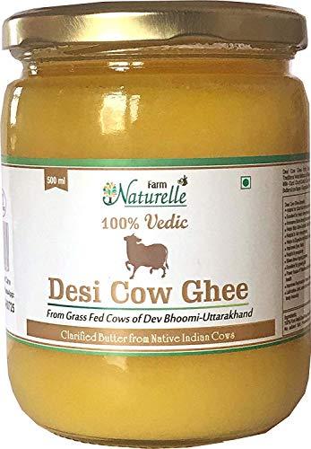 Desi Cow Ghee - 100% Pure From A2 Milk -500 ML (16.90 OZ)