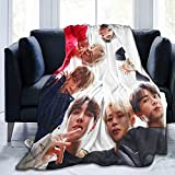 Kpop Merchandise Blanket Throw Bedding Super Soft Fuzz Comfortable for Bed Sofa Kids and Adults 50'x40'