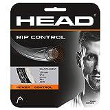 Head RIP Control Tennis Racket String 40' Set - 17 Gauge Multifilament Racquet String, Black