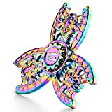 GlueMii Fidget Hand Spinner Phone Stress Reducer Figit Toy for Kids and Adults,Finger Spinner Focus Toys for Anxiety,Autism,Boredom,Rainbow Color