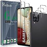 Ferilinso [6 Pack] 3 Piezas Protector de Pantalla para Samsung Galaxy A12/A12 Nacho/M12 Cristal Templado + 3 Piezas Protector cámara Protector de Lente de Cámara [9H Dureza] [Compatible con la Funda]