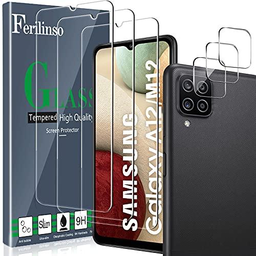 Ferilinso [6 Pack] 3 Piezas Protector de Pantalla para Samsung Galaxy A12/...