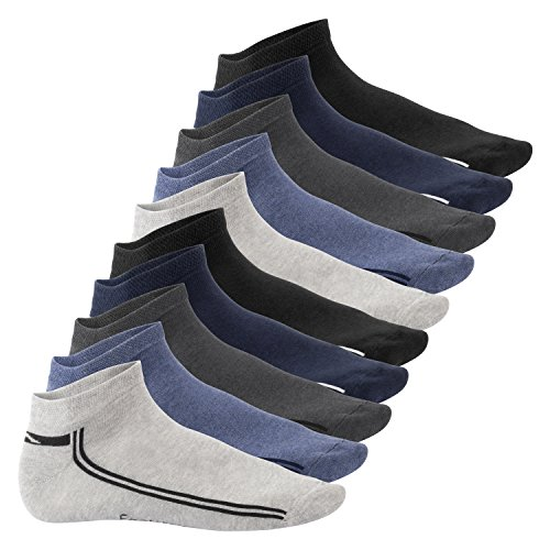 Footstar Damen und Herren Motiv Sneaker Socken (10 Paar) - Jeanstöne 43-46