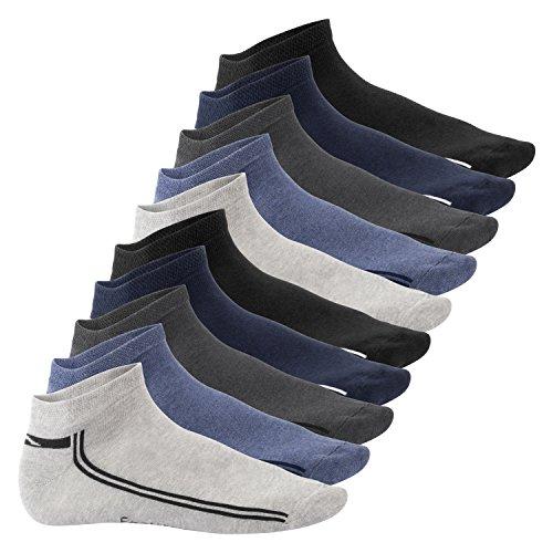 Footstar Damen und Herren Motiv Sneaker Socken (10 Paar) - Jeanstöne 39-42