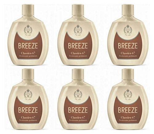 6 Deodoranti Breeze Squeeze Deodorante Profumato Classico 67 per il corpo