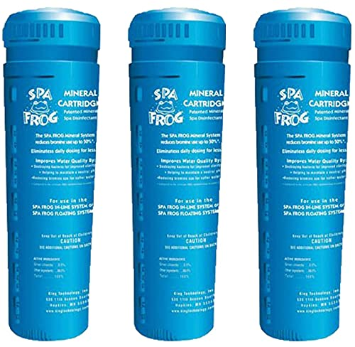 Spa Frog Serene Cartridge for Hot Tub 3 Mineral Cartridge for Floating Sanitizing System and Hot Tub Water Balance Guide