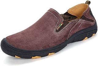 [ムリョシューズ] 登山靴 メンズ スポーツシューズ 滑り止め カジュアル 歩きやすい 痛くない 25.5cm 脱げ防止 コンフォート ワイルド 柔らかい 軽量 疲れにくい ワインレッド 走れる フラットヒール シンプル 吸湿吸汗性抜群