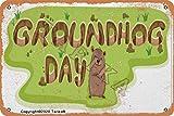 Cartel de decoración de aspecto Retro de hierro del día de la marmota para el hogar, cocina, baño, granja, jardín, garaje, citas inspiradoras, decoración de pared