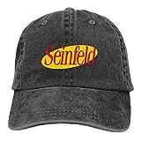 YeeATZ Seinfeld Logo Hats Washed Adjustable Cowboy Hat Denim Baseball Caps Unisex New