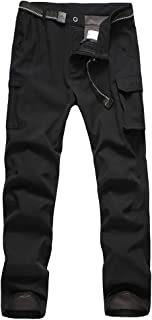 Boys' Softshell Fleece Pants Waterproof Windproof for Outdoor Mountain Ski Hiking Snowboarding Insulated Trousers