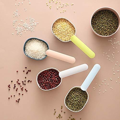 por LM 5 PCS Cocina Multifuncional de plástico de la Cucharada de arroz Cuchara doméstica Cuchara dosificadora Color al Azar de Entrega 2021 Nuevo uno