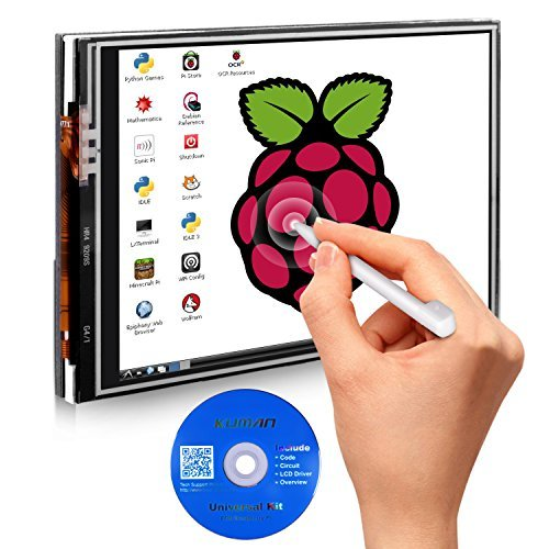 kuman 3.5 inch 320*480 Resolution Touch Screen TFT LCD Display Module SPI Interface with Touch Pen 3.5 zoll LCD Bildschirm for Raspberry Pi 4 3B+ 2 Model B/B+ SC06