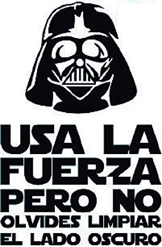 Clapper Vinilo Decorativo Pegatina WC, Decoración para el baño, Frase Darth Vader