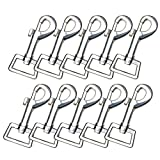 """Quantity: 10pcs/Pack; Color: Silver,Size:2.95""""x0.98""""; Heavy duty : The swivel snap hooks are made of premium metal alloy material which are sturdy and high hardness, wear resistant and rust resistant, not easy to be break or crack, can be used for a ..."""