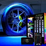 OPT7 Aura Wheel Well RGB LED Kit w/Wireless Remote Lighting Kit, Multicolor Tire Rim Lights for Cars | 3-Into-1 16+ Smart-Color Waterproof Strips SoundSync