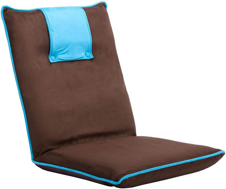 LYXPUZI Bett faul Couch   Computer rückenlehne Stuhl   Faltbarer beinloser Stuhl hocker Boden Fenster Stuhl (Farbe   A)
