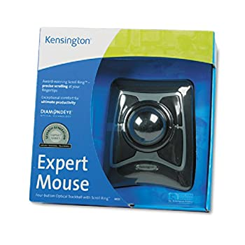 Kensington 64325 Expert Mouse Wired Trackball Scroll Ring Black/Silver