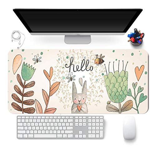 Yanqhua Alfombra de Escritorio 300x800x2 mm Lindo Alfombrilla de ratón Comtupers Estera de Escritorio Grande XXL Mousepad Kawaii Gaming Accessoroes Laptop Gamer (Color : Silver)