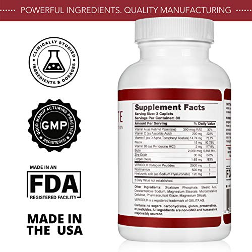 51bVu4UTqtL - HealFast Rejuvenate - Anti Aging Beauty & Skin Supplement - Clinically-Studied Ingredients w/Nicotinamide & Verisol Collagen Peptides - Physician Formulated - for Energy, Skin, Hair, Nails - 90 Pills