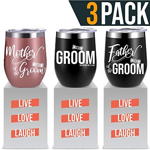 Groom Wine Tumbler Set