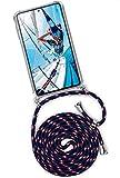 ONEFLOW Twist Hülle kompatibel mit Samsung Galaxy S20 FE/FE 5G - Handykette, Handyhülle mit Band zum Umhängen, Hülle mit Kette abnehmbar, Blau Weiß Rot