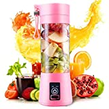 【Updated Blades】The juicer extractor is designed with 4 PCS 304 stainless steel blades and strong power system, pure copper motor, quick speed and long life, which can effortlessly make fruits, vegetables into smoothie within 1 minute. 【Safety and He...
