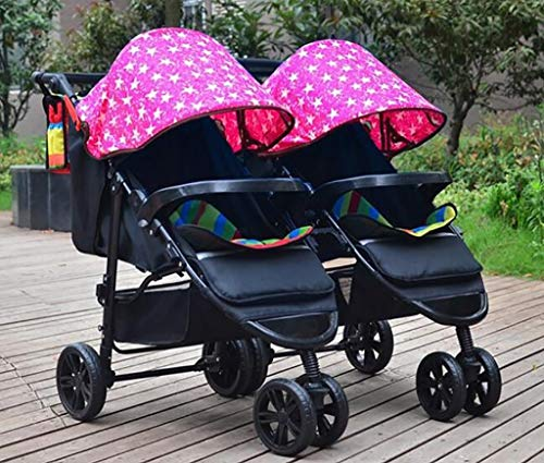 Twin Baby Stroller Detachable Double Triplet Multi-Child Folding Stroller Can Sit 0-3 Years Old,H
