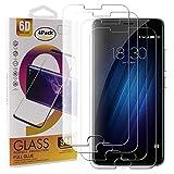 Guran 4 Paquete Cristal Templado Protector de Pantalla para Meizu M3S / Meizu M3 Smartphone 9H Dureza Anti-Ara?azos Alta Definicion Transparente Película