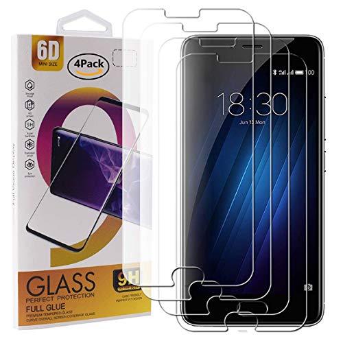Guran 4 Pezzi Pellicola Protettiva in Vetro Temperato per Meizu M3S / Meizu M3 Smartphone 9H Durezza Anti-Impronte HD Alta Trasparenza Pellicola