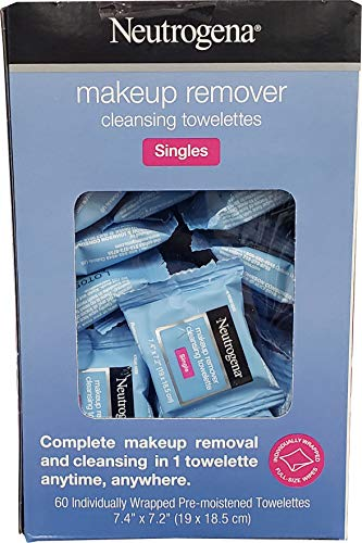 Neutrogena Make Up Remover Cleansing Towelettes Singles (Netcount 60 Pack),, 60Count ()