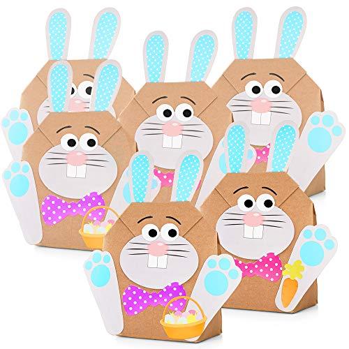 THE TWIDDLERS 12 DIY Osterhasen Tüten Bastelset zu Ostern – Osterbasteln mit Kinder & Papier – Oster Party Geschenk tüten zum selber Befüllen, Bastelbedarf & das ideale Ostergeschenk
