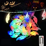 Fantasma di luci fatate di Halloween: con 30 LED e 8 modalità flash, dai alla tua festa un'atmosfera fatata. Alta qualità: realizzato in plastica di alta qualità, non tossico, sicuro ed ecologico, può essere applicato ripetutamente. Il materiale impe...
