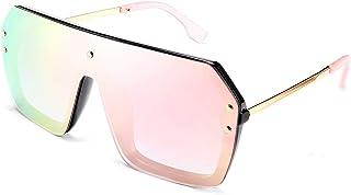 نظارات شمسية من FEISEDY الكلاسيكية سيامي قطعة واحدة لطيفة بدون إطار أنيقة ريترو تصميم للنساء الرجال B2574
