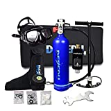 FGKING Cilindro de oxigeno para Respirar, Juego de Tanques de oxígeno, Mini Equipo de Buceo Equipo de Buceo Libertad de respiración bajo el Agua Durante 15 a 20 Minutos con diseño Recargable,Azul