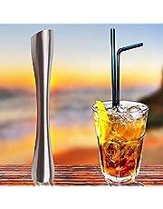 "Merrday Coctelera de Acero Inoxidable Muddler 8""Professional Drink Muddler Herramienta Ideal Bartender para Old Fashioned y Mojitos"