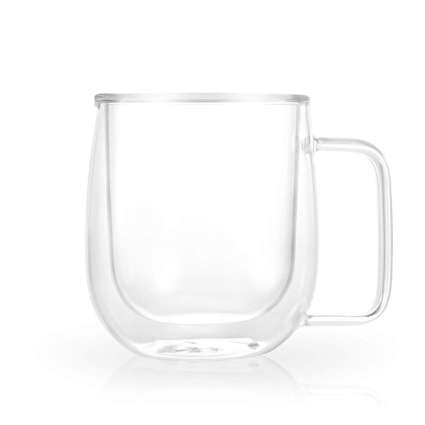 霧深い宇宙船奴隷Saikogoods 透明な二層ガラスのティー耐熱カップコーヒーマグカップ断熱健康グレートギフトを飲みます トランスペアレント