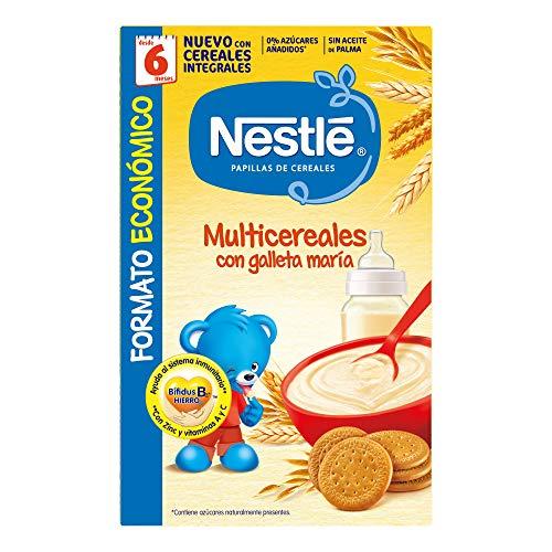 Nestlé Multicereales con Galleta María Papilla de Cereales, 500g