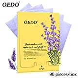 90/270unidades Lavanda Oil Absorbing Sheets by Clean Clear for Unisex Lady xxl-cosmetic facial Oil Control Blotting Paper Sheets–colinsa