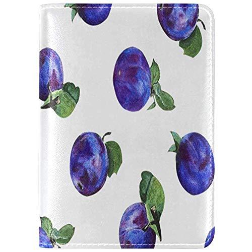 Porta passaporto Word Plum Snack Food Dried Fruit Blue;...