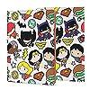 ジャスティスリーグ ノートカバー a5 ブックカバー メモ帳カバー メモパッドカバー EVISUK